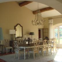 Saint-Tropez - Peinture intérieure et décoration - Villa privée - Salle à Manger